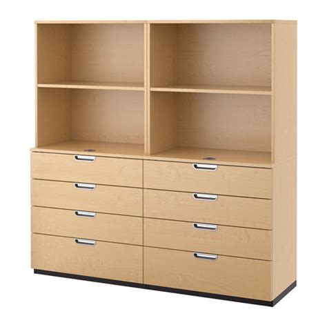 galant storage combination with drawers birch veneer ikea