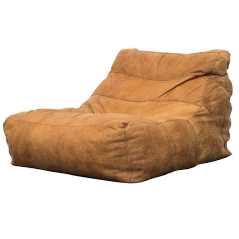 de sede style leather soft form bean bag lounge chair at