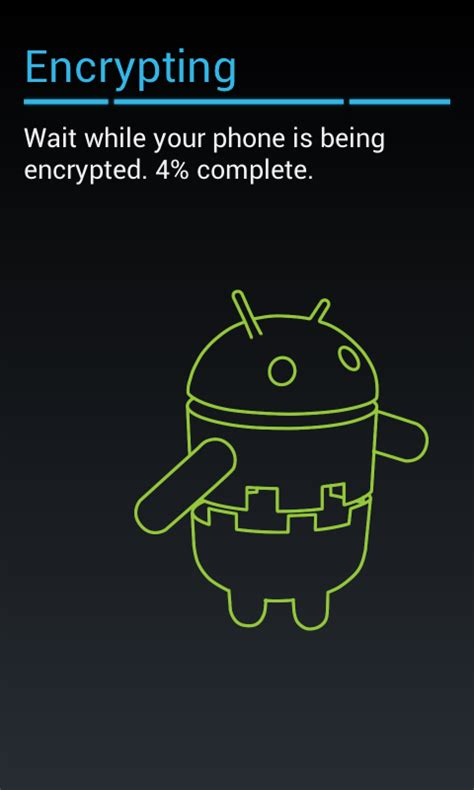 encryption for android android encryption not possible with pin only password