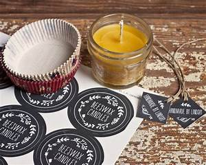 homemade beeswax candles evermine occasions With diy labels for candles