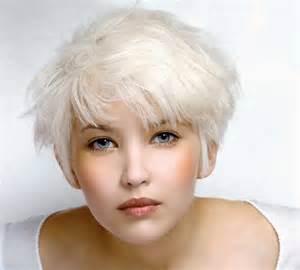coupe courte cheveux blancs coupe de cheveux blanc