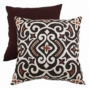 Pillow, Perfect, Decorative, Brown, And, Beige, Damask, Square, Toss, Pillow, -, Walmart, Com