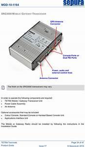 Srg3900xn Tetra Mobile  Gateway Terminal User Manual