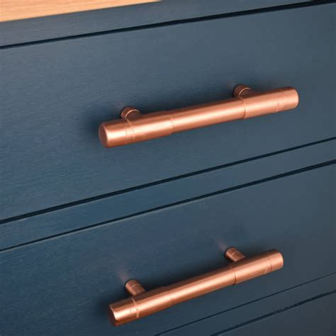 12 drawer dresser chunky copper t bar pull by proper copper design
