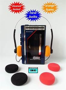 Sanyo Walkman Radio Cassette Player New Belts Cleaned