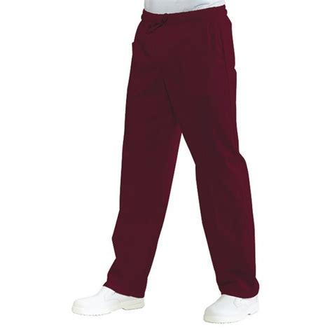 pantalon de cuisine femme pantalon de cuisine couleur bordeaux pour homme et