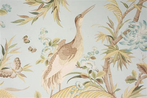 Drapery Cloth by Richloom Platinum Collection Egret Printed Cotton Twill