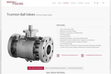 trunnion ball valve sesto valves