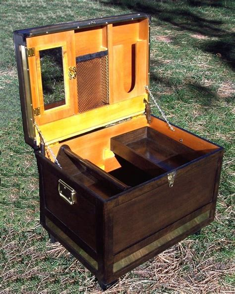 tack trunk box horse locker equestrian saddle trim christmas horses walnut brass finish stables cowgirl dream building boxes storage want