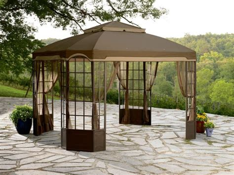 Walmart Patio Gazebo Canopy by Garden Oasis Bay Window Gazebo Traditional Gazebos