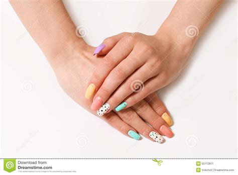 Manicure On Female Hands Royalty-free Stock Photo