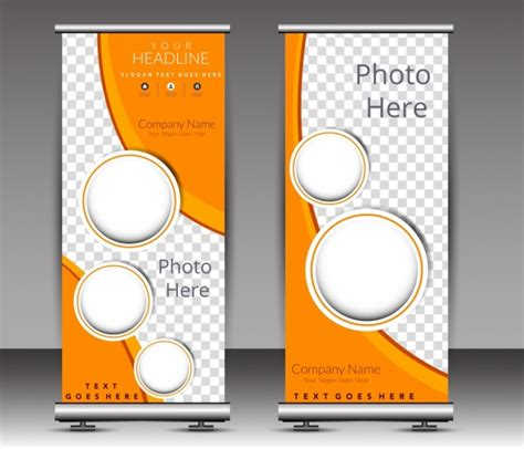 poster template modern circle checkered decor roll design