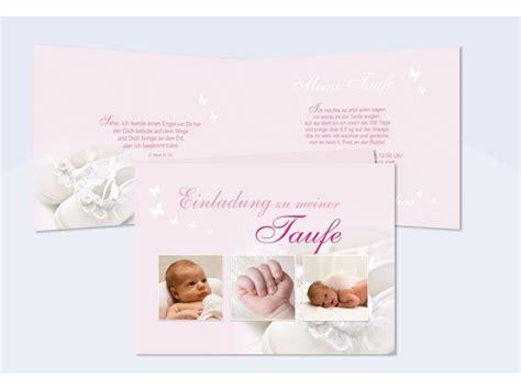 taufe einladung einladungskarte klappkarte  rosa