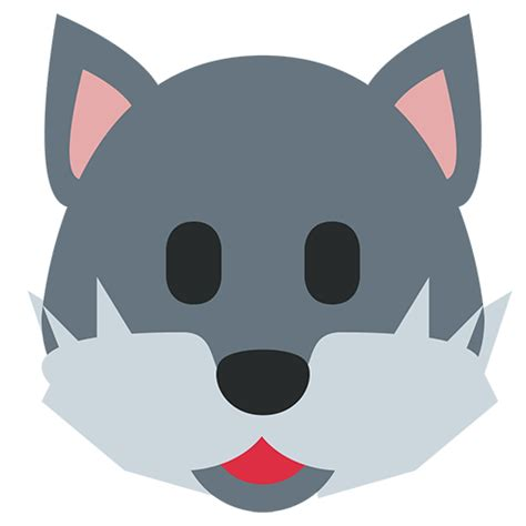 wolf face emoji  facebook email sms id