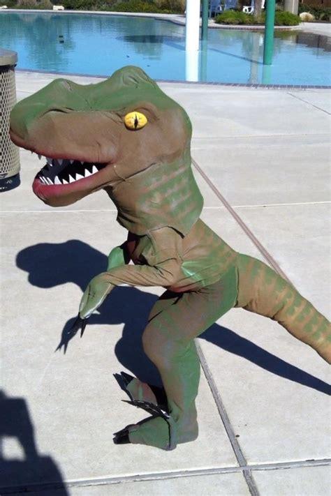 girls love dinos  homemade dinosaur costume