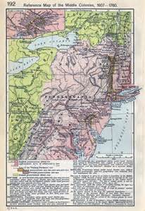 Colonial Middle Colonies Map