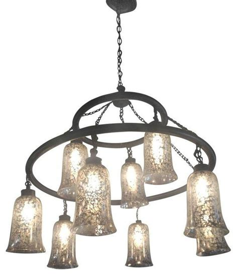 mercury glass chandeliers pre owned mercury glass shade chandelier modern