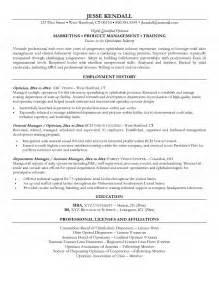licensed optician resume sle image gallery optician resume