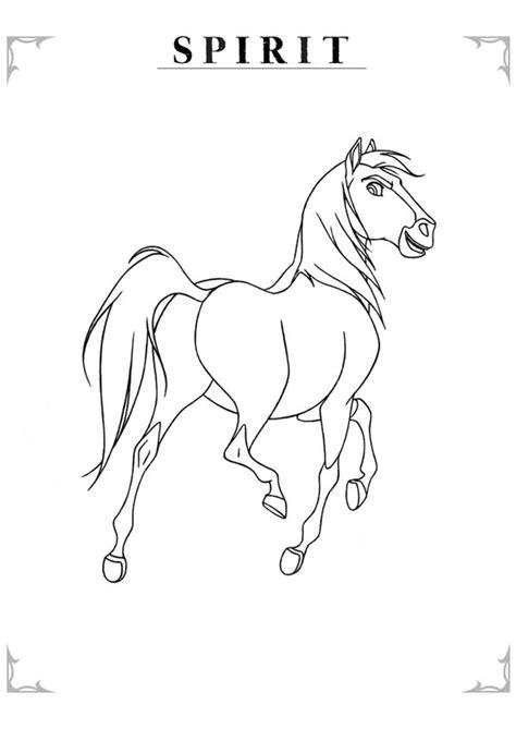 Kleurplaat Paarden Spirit by Kleurplaat Spirit Een Prachtig Paard 7895 Kleurplaten