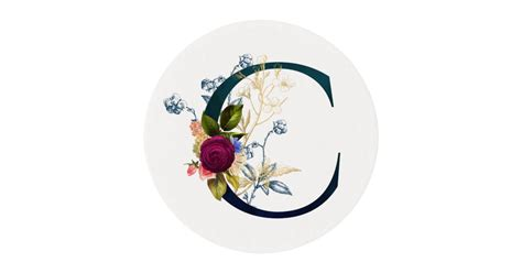 fancy floral monogram letter  edible frosting rounds zazzlecom
