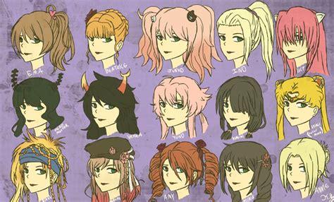 female anime hairstyles  kaniac  deviantart