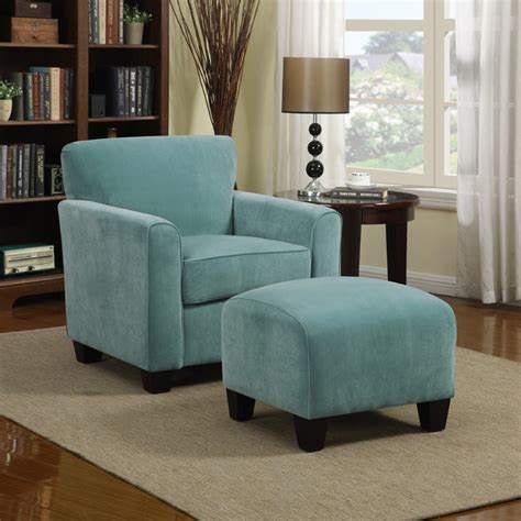 blue chair with ottoman portfolio park avenue turquoise blue velvet arm chair and