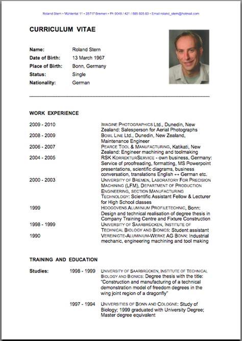 Curriculum Vitae Model For Teaching by Resume Format Cv Resume Format Word Resume Template