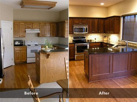 before and after pictures of kitchen cabinets painted staining kitchen cabinets before and after pictures 9889