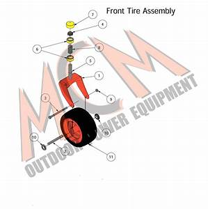 Bad Boy Mower Part  2016 Mz Magnum Front Tire Assembly