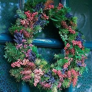 Weihnachtskranz Selber Machen : bastelideen f r einen weihnachtkranz im l ndlichen stil ~ Markanthonyermac.com Haus und Dekorationen