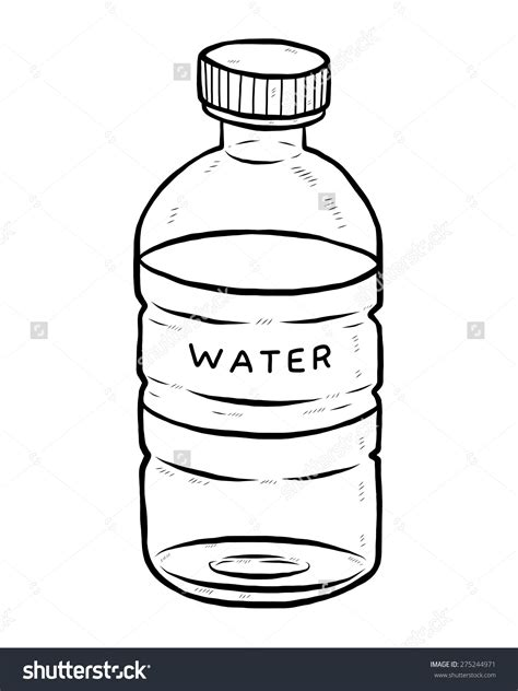 Bottle Clip Water Bottle Clipart Black And White