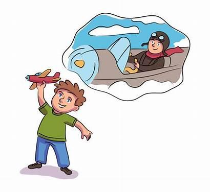 Dream Job Illustrations Clip Dreaming Boy Being