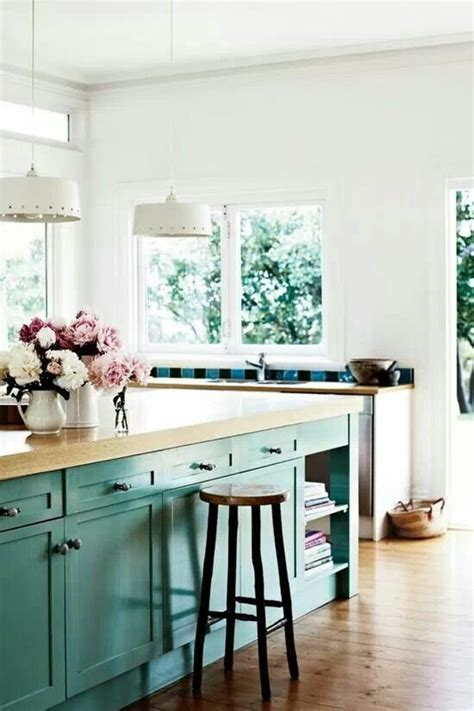rustic teal kitchen cabinets turquoise kitchen farmhouse rustic