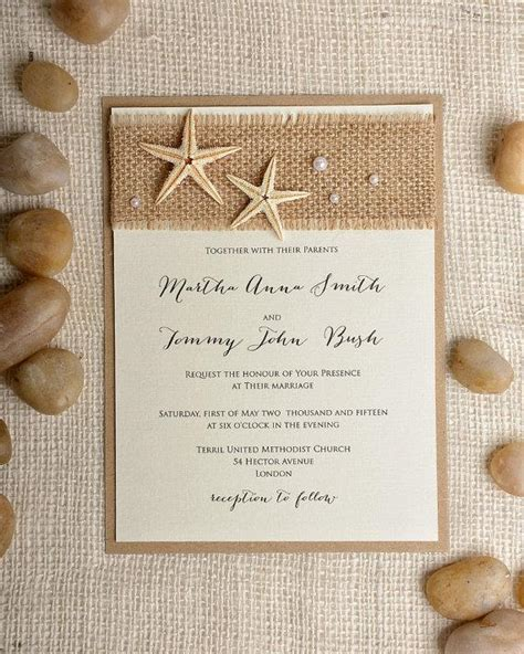 destination wedding invitations custom listing 100 starfish wedding invitation wedding invitation destination wedding