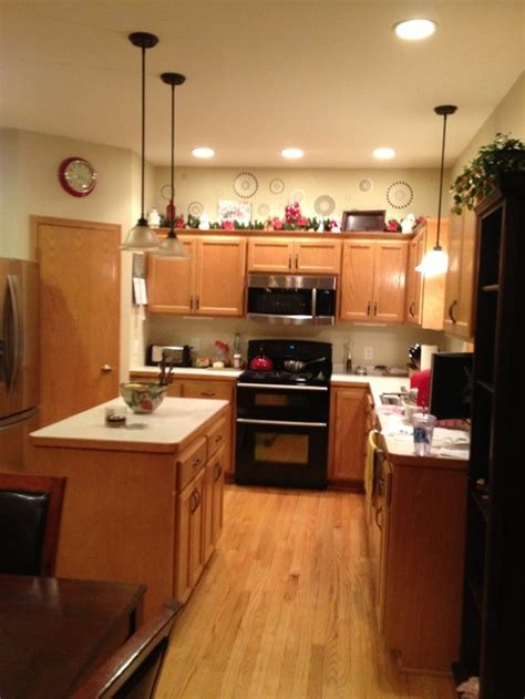 the kitchen design golden oak open concept feels small 2718