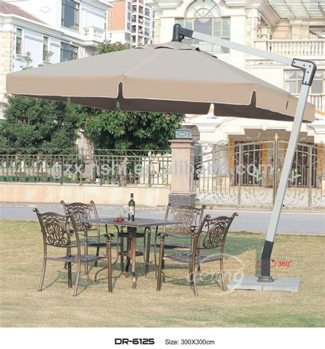 custom angle garden umbrella outdoor hanging square roma