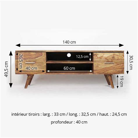 colonne de cuisine meuble tv scandinave 2 tiroirs en bois made in meubles