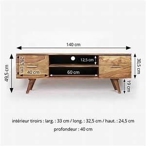 Meuble Tv Scandinave But : meuble tv scandinave 2 tiroirs en bois made in meubles ~ Teatrodelosmanantiales.com Idées de Décoration