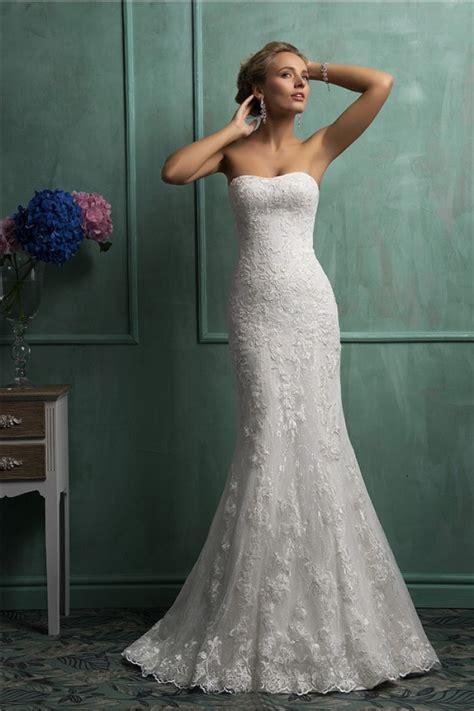 cutest wedding dresses mermaid strapless corset vintage lace wedding dress