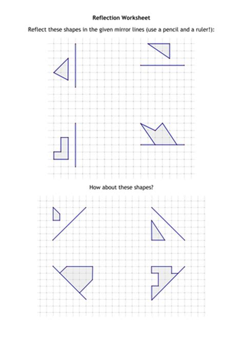 Reflection Worksheet By  Us Teacher Lessons Tes