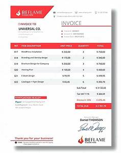 beautiful invoice best invoice templates to create your With invoice format in html design
