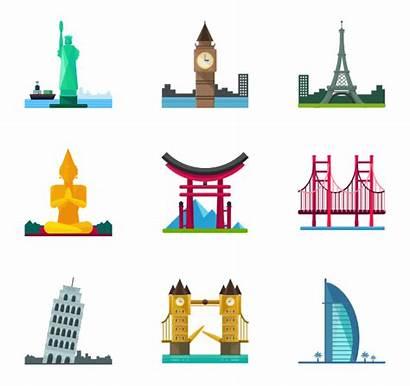 Landmarks Landmark Icons Icon Monuments Apps Web
