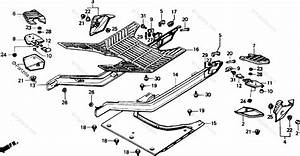 Honda Scooter 1985 Oem Parts Diagram For Floor Panel