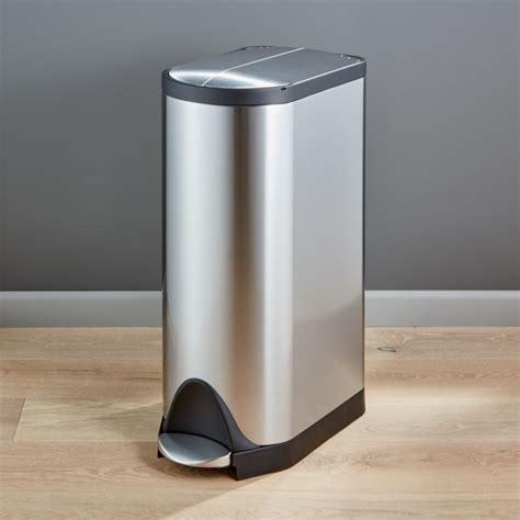simplehuman  liter gallon stainless steel butterfly