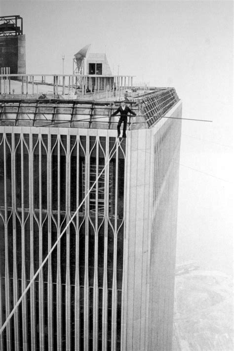 Window seat: Figure heads...Philippe Petit