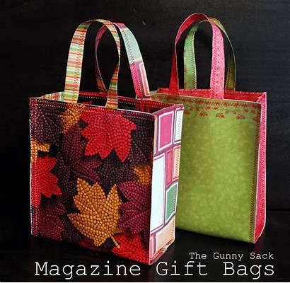 Paper Gift Bags Magazine Magazines Diy Tutorial