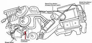 1999 Jeep Grand Cherokee  Heater Blower Motor  The Fan Motor Terminals