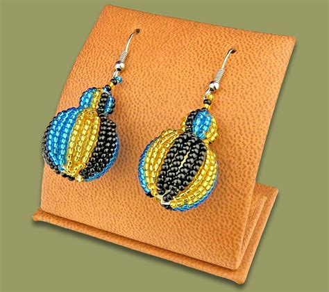 Bobble Earrings earrings bobble bobble earrings blue gold black