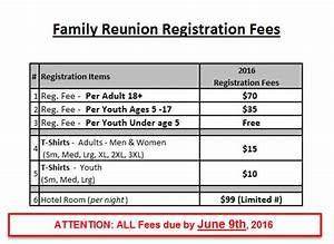 White castille family reunion wordpress site for Family reunion letter with prices