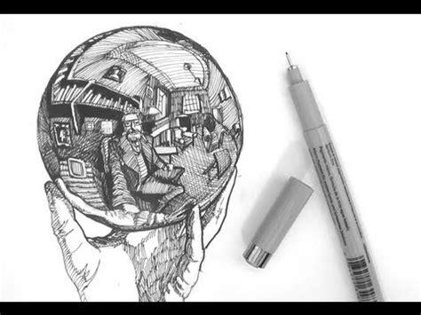 ink drawing tutorials   draw  crystal ball